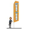 Buy Here Pay Here (yellow) Swooper Flags 15ft